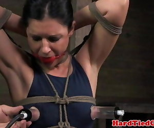 porn Box tied bondage skank 5 min, India Summer , bdsm  fetish