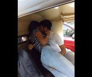 porn Indian Boy Seduce Girl In Rickshaw, vintage