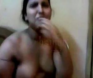 porn desi aunty fucking with lover in front.., desi , aunty  maid